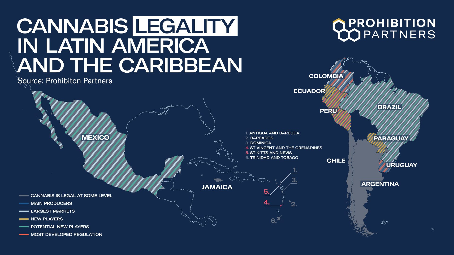 Cannabis legality in Latin America and the Caribbean